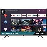 "Hisense 58"" Android TV 58H6550E Smart 4K Televisor UHD Pantalla con HDR Wi-Fi Netflix Youtube, Vudu, Hulu, Google…"