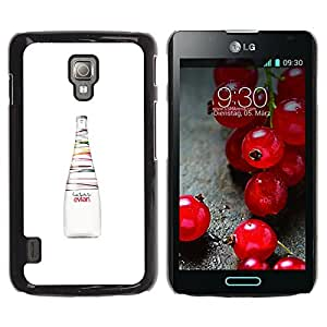 iKiki Tech / Estuche rígido - Bottle Fresh Art Colors Healthy - LG Optimus L7 II P710 / L7X P714
