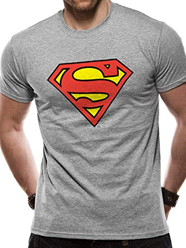 Logo Camiseta Superman Man gris DC Comics deportiva SqqpxPwR