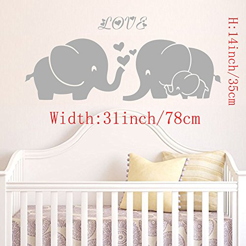 Elephant Family Decal Three Heart product image