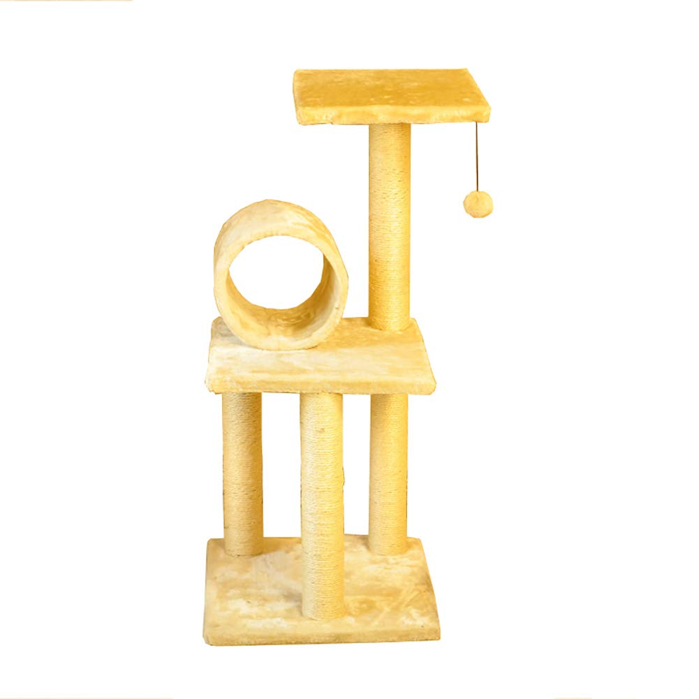 Beige Pet stairs Pet Stairs Cat Tree, 3-steps for Cat, Cat Climbing Frame, Cat Jumping Platform Cat Claw, Cat Supplies Stairs (color   Beige)