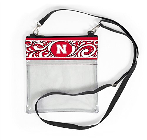 Desden Nebraska Cornhuskers Clear Gameday Crossbody Bag by Desden
