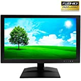 "1stPV True Full HD 1920x1080 21.5"" CCTV LCD LED Monitor for Security Surveillance System HDMI & VGA (1920x1080) / BNC (480TVL) Inputs Great for Home Office DVR Camera Audio Video 16:9 Display"