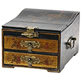 Oriental Furniture Small Jewelry Box with Mirror