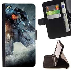 Momo Phone Case / Flip Funda de Cuero Case Cover - Pacífico Rem Robot;;;;;;;; - Samsung Galaxy J3 GSM-J300