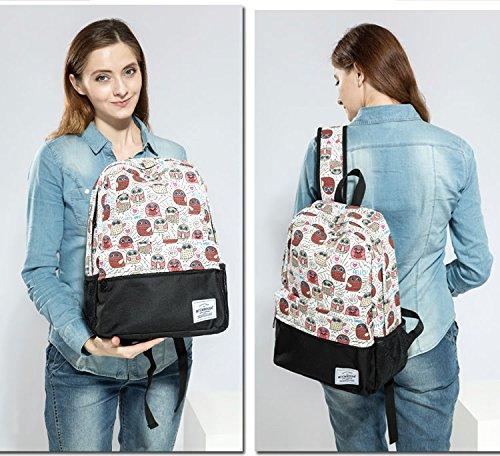 Winnerbag femmes 806a haute Sacs sacs à de Toile dos imprimé dos animé l'école Owl qualité adolescentes de de voyage Cute dessin pour Sac de à Mochila qrnT4qfx