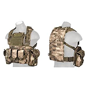Lancer Tactical CA-307 Modular Chest Rig PALS MOLLE Vest and Hydration Pack Slot - ATFG