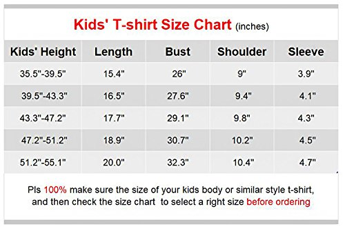 "VIPbuy Kid Girls' Short Sleeve T-Shirt Magic Reversible Sequins Letter Print Tee Tops (Height: 47.2""-51.2"", Black) by VIPbuy (Image #1)"