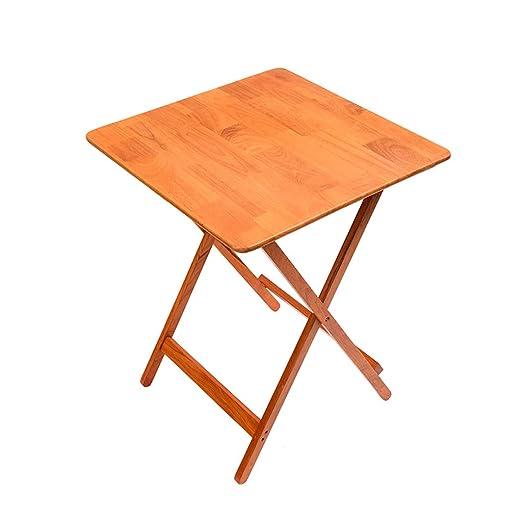mesa plegable LITING Mesa de Comedor Casa de Madera Maciza Pequeño ...