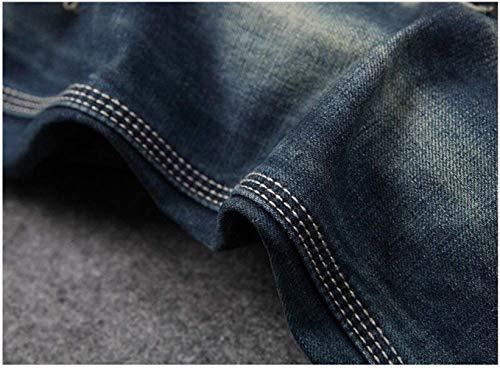 Dritti Tendenza Da Battercake Hanno Jeans Ne Blau Comodo Originality Uomo Casual Cotone I In Pantaloni Old Slim Moda Originali 1fxq5x