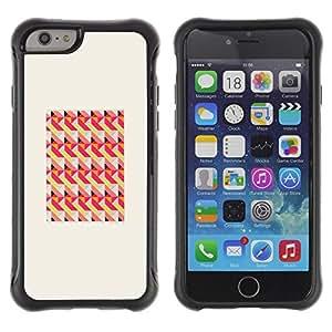 LASTONE PHONE CASE / Suave Silicona Caso Carcasa de Caucho Funda para Apple Iphone 6 PLUS 5.5 / Peach Pink Frame Pattern