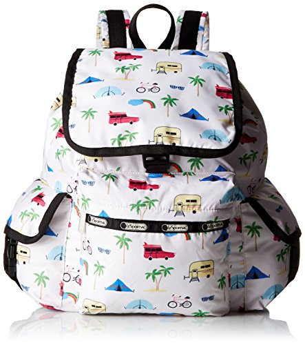 LeSportsac Voyager Back pack, Roadtrip Vaca Cream, One Size by LeSportsac
