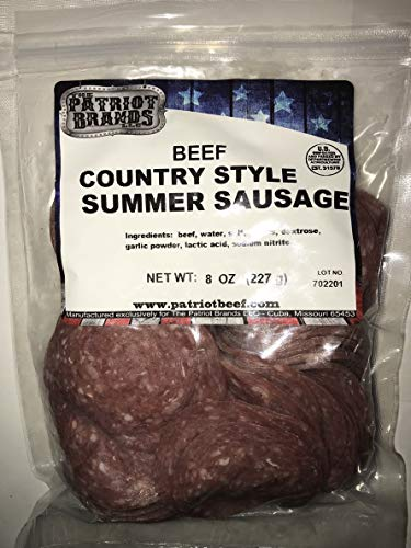 - Savory Sliced Country Style Summer Sausage ALL BEEF