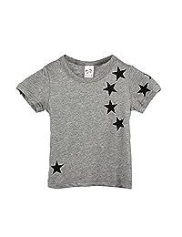 Boys T Shirt, FTXJ Cool Children Kids Child Cotton Star Short Sleeve Tops Tees