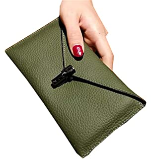 402beaa55521 [エージョン] レディース 長財布 薄い ウォレット 最初の牛革 シンプル ロング 本革 カード