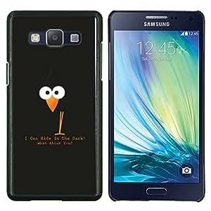 KLONGSHOP // Cubierta de piel con cierre a presión Shell trasero duro de goma Protección Caso - I Can Hide in the Dark - Samsung Galaxy A5 A5000 //