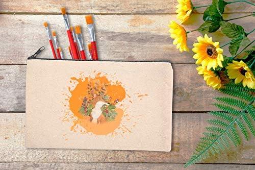 ZeeDix 20 Pack Blank DIY Craft Bag Canvas Pen Case Blank Makeup Bags - Canvas Pencil Bag Cotton Canvas Cosmetic Bag Multi-Purpose Travel Cosmetic Bag