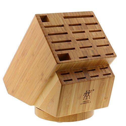 (Zwilling J.A. Henckels 35101-840 26-Slot Bamboo Swivel Knife)