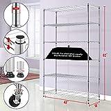 6 Tier Wire Shelving Unit Metal Shelf organizer