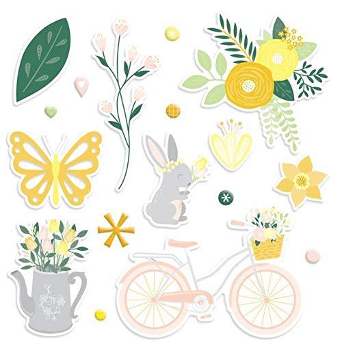 Simply Sunshine Embellishments 86/pk - 40 Diecuts & 46 Enamel Stickers by Creative Memories