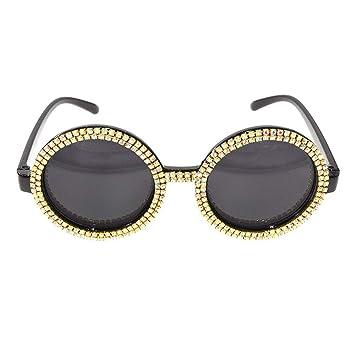 ANLW Gafas de Sol de Diamantes de Imitación Talladas en Oro ...