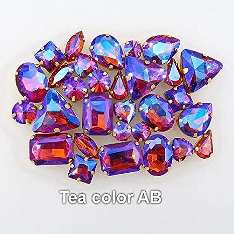 100Pcs 8mm AB Color Heart Shape Acrylic Flatback Rhinestones on Craft//Clothes