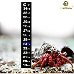 Stick-on Thermometer for Hermit Crabs - Provide Precise Temperature Measurement - Easy To Use and Install - Helps Keep Crabs Healthy & Live Longer