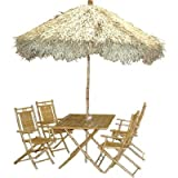 6 Pc Bamboo Set w Palapa Umbrella and Four Chairs Review