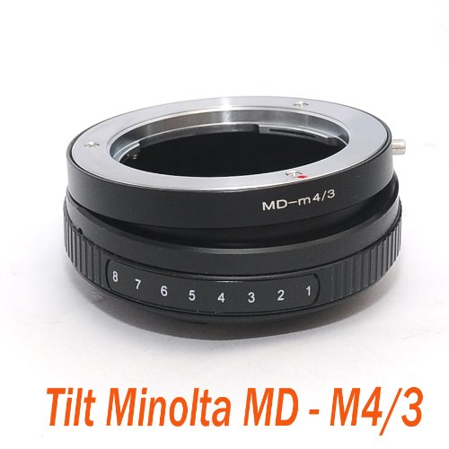 EzFoto Tilt Minolta MD MC Lens to M4/3 MFT Camera Adapter, for Panasonic G1, G2, G3, G10, GH1, GH2, GF1, GF2,GF3, Olympus E-P1 E-P2, E-PL1, E-PL2, E-P3 etc