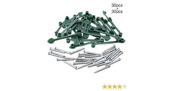 KINGLAKE Clips de plástico para Fijación de Plantas, 30 Unidades ...