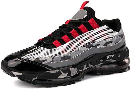 WYX Zapatos de los Hombres Amortiguador de Aire Nuevo otoño Choque Zapatillas de Running Amortiguador Mens Invierno Deportes Zapatos Casual Zapatos,C,41: Amazon.es: Jardín