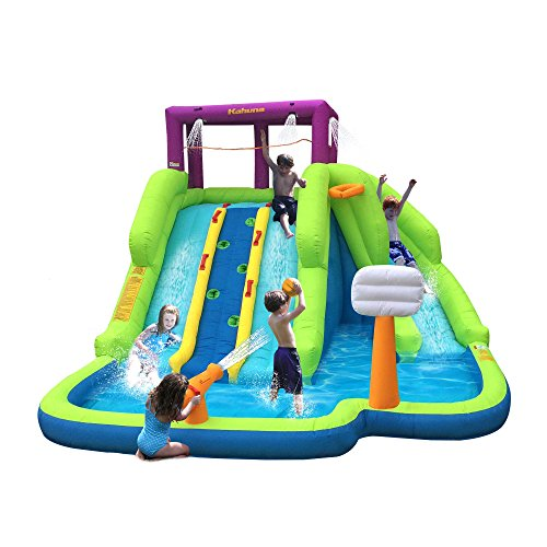 Magic Time Triple Blast Kids Outdoor Inflatable Splash Pool Backyard Water Slide (Backyard Waterslide)