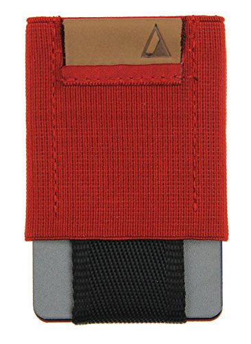 NOMATIC Red Slim Minimalist Wallet- Everyday Carry Card Holder- Keys, Cash, Coin ()