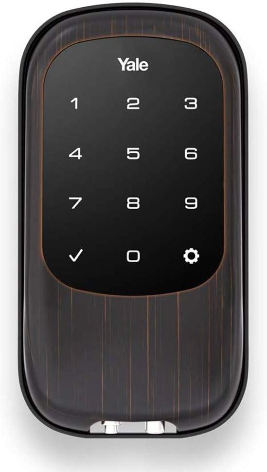 Yale Security YRD120-NR-0BP Yale T1L Lock Oil Rubbed Bronze (YRD120) Key Free Touchscreen Deadbolt