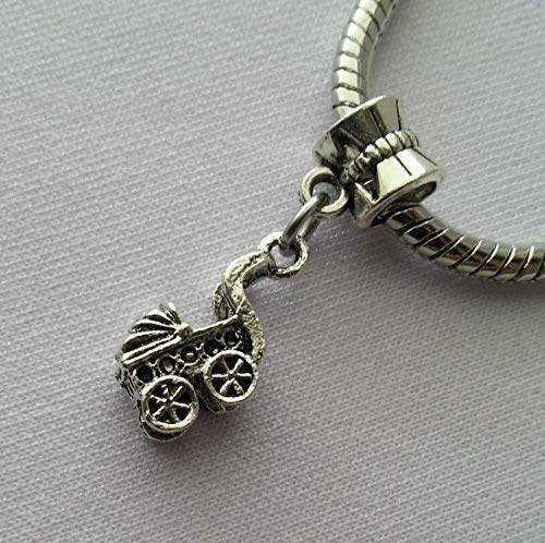 Pendant Jewelry Making Carriage Baby Stroller Dangle Bead Fits European Style Charm Bracelet/Necklace