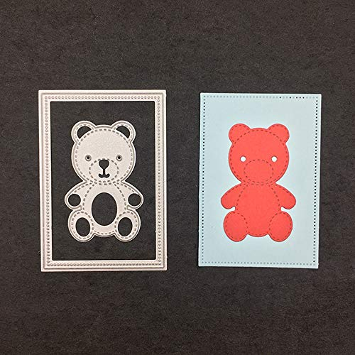 Cutting Dies - 3d Animal Teddy Bear Craft Dies Metal Stencils Cutting Template Photos Album Decor Embossing - Metal. Nativity Christmas Shapes Template Little Uanbo9wykh Torn Round Paper