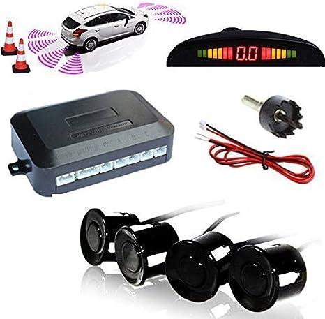 LED Display Schwarz Parkhilfe PDC Rückfahrwarner 8Sensoren Auto Einparkhilfe