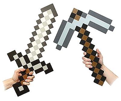 ThinkGeek Minecraft Foam Sword & Pickaxe Combo Set of 2
