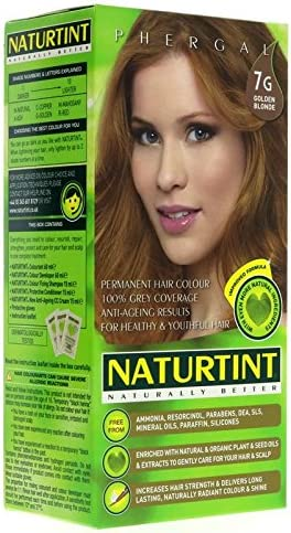 Tinte para cabello NATURTINT 7G, color rubio dorado, color ...