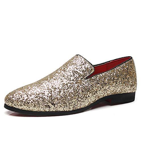 48 Sera da 38 Taglia Oro Eleganti Scarpe Loafers Uomo Silver Argento Men Uomo Grande in Mocassini Nero da Eleganti da Scarpe Successg 6XYqZBwq