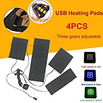 Dacyflower Heater Warmer Portable 4 in 1 USB Electric Heating Pads Vest Clothes