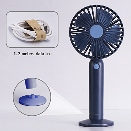 4x9x3inch DULPLAY Mini USB FAN Handheld,Personal FAN,USB port,Student dormitory Cartoon Carry USB rechargeable Quiet Office home-A 10x21.8x6.6cm