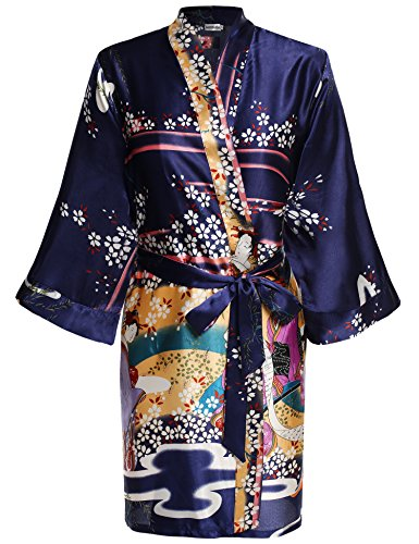 HOTOUCH Women s Lightweight Breathable Kimono Robe Short ... 3373a0f35