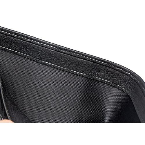 Horizontal Men's Bifold Leather Slim Holder ZRO Black Front Card Pocket Wallet Txznwdp