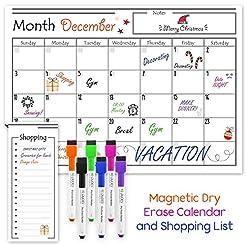USA Made Magnetic Dry Erase Calendar for...