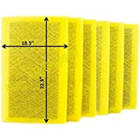 RayAir Supply 20x25 MicroPower Guard Air Cleaner Replacement Filter Pads (6 Pack) YELLOW
