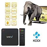 Hoxana M9X 3G+32G Android Smart TV Box Amlogic S905 Chipset Kodi 16.0 Full Loaded Android 5.1 Lollipop OS TV Box Quad Core 4K Bluetooth 4.0 Streaming Media Players with Wi-Fi HDMI DLNA …