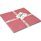 "Beautiful Basics Classic Check 10"" Squares 42 Pieces Layer Cake Maywood Studio"