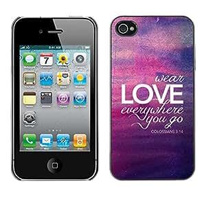 """For Apple iPhone 4 / iPhone 4S / 4S Case , Burbuja púrpura amarillo Luces de Verano"""" - Diseño Patrón Teléfono Caso Cubierta Case Bumper Duro Protección Case Cover Funda"""