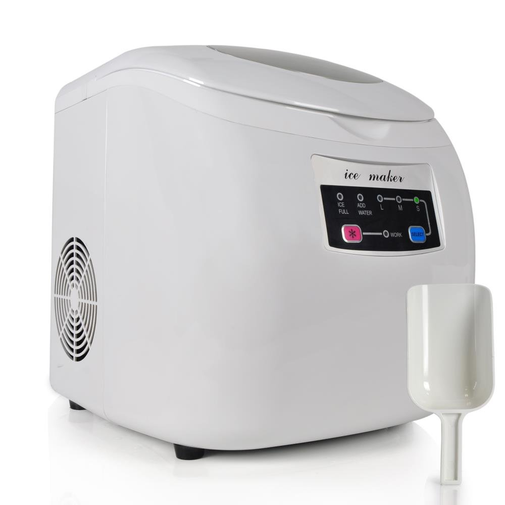 NutriChef AZPICEM20 Countertop Ice Maker, White